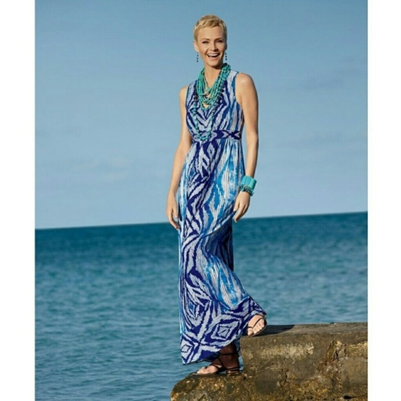 59760e6aa7 Chico s Dresses   Skirts - CHICO S MAXI DRESS Boho Chic Print ...